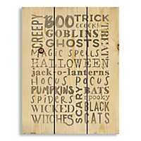 Halloween Typography Wood Pallet Art