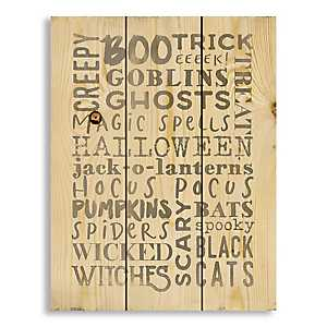 Halloween Typography Wood Pallet Art