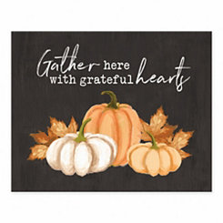 Gather Here Grateful Hearts Tabletop Canvas Print