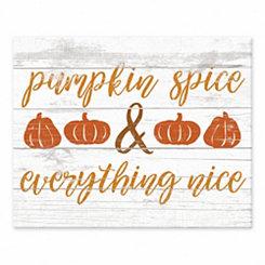 Pumpkin Spice Tabletop Canvas Print