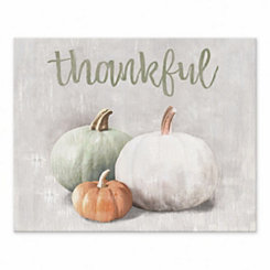 Thankful Tabletop Canvas Print