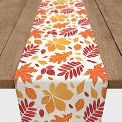Multicolor Fall Leaves Table Runner