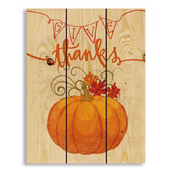 Give Thanks Wood Pallet Wall Plaque