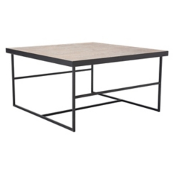 Forester Wood Top with Metal Frame Coffee Table