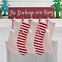 Red The Stockings Were Hung Stocking Holder