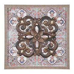 Framed art framed wall art kirklands spiced resin medallion shadowbox gumiabroncs Image collections
