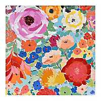 Flower Power Hand Painted Canvas Art Print