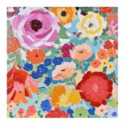 Flower Power Hand Painted Canvas Art Print