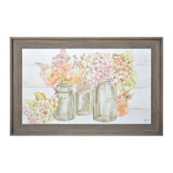 Hydrangea in Jars Framed Art Print