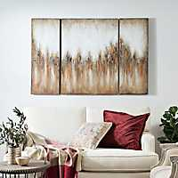 Luxart Copper Crystal Canvas Art Prints, Set of 3
