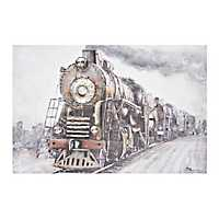 Train in Motion Canvas Art Print