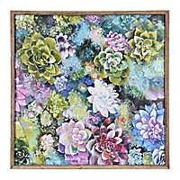 Succulents Framed Canvas Art Print