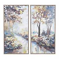 Moonlight Trees Framed Art Prints, Set of 4