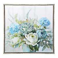 Blue Natural Elegance Framed Art Print