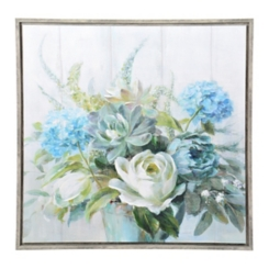 Blue Natural Elegance Framed Art Print