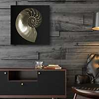 Nautilus on Black Canvas Art Print