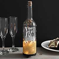 Silver Pop Fizz Clink Wine Bottle Night Light