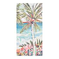 Whimsical Palm Tree Canvas Art Print