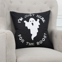 I'm Just Here for the Boos Ghost Pillow