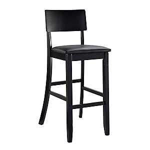 Tyler Vinyl Seat Black Bar Stool