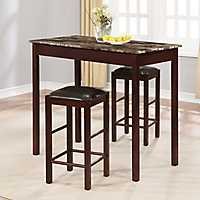 Tavern Counter Height Table and Stools 3 Pc. Set