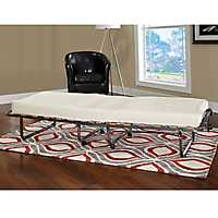 Claxton Folding Bed with Memory Foam Mattress