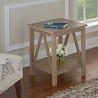 Charleston Rustic Gray Accent Table