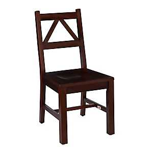 Triangular Back Antique Tobacco Dining Chair
