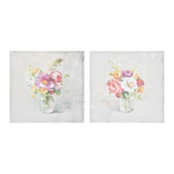 Floral Summer Treasures Canvas Art Print, Set of 2