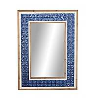 Rustic Carved Frame Mirror, 34x57 in.