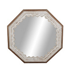 Scalloped Octagon Mirror, 32 in.