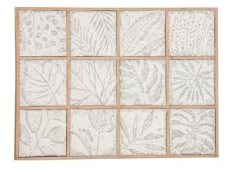Various Leaf Designs Plaque with Copper Frame