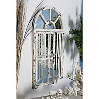 White Farmhouse Arched Mirror, 26x46 in.