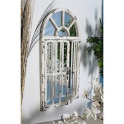 White Farmhouse Arched Mirror, 26x46 in.