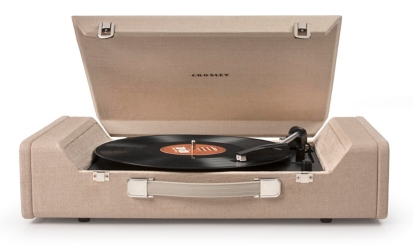 Nomad Portable 3-Speed Linen Turntable