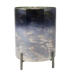 Chelsea Glass Planter with Iron Stand