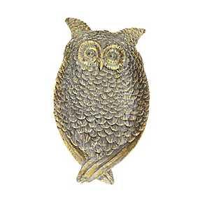 Bronze Decorative Owl Plate