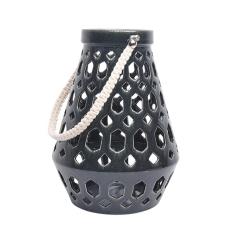 Charcoal Open Work Ceramic Lantern