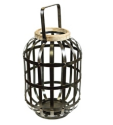 Metal Caged Lantern with Handle