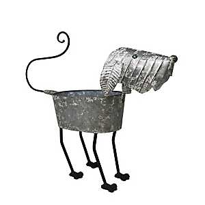 Tin Dog Planter