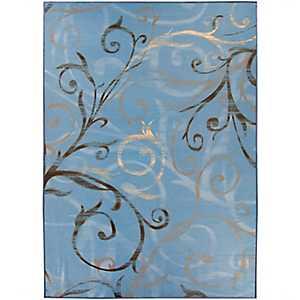 Blue Swirl 2-pc. Washable Area Rug, 5x7