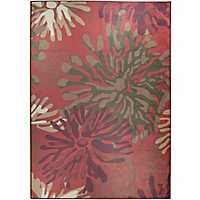 Red Mum 2-pc. Washable Area Rug, 5x7