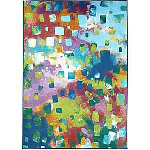 Abstract Watercolor 2-pc. Washable Area Rug, 5x7
