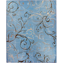 Blue Swirl 2-pc. Washable Area Rug, 8x10