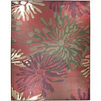Red Mum 2-pc. Washable Area Rug, 8x10