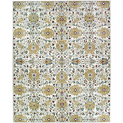 Cream Floral 2-pc. Washable Area Rug, 8x10