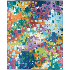 Abstract Watercolor 2-pc. Washable Area Rug, 8x10