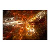 Universe is Born Tempered Glass Art Print