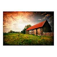 Country Paradise Tempered Glass Art Print
