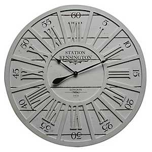 Kensington Station Wood Wall Clock